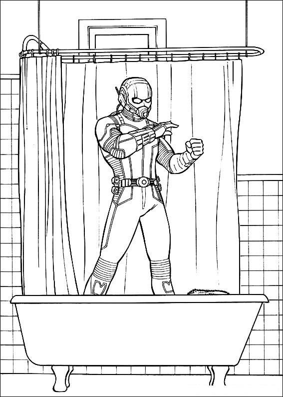 Раскраска фантастический Человек-муравей 5