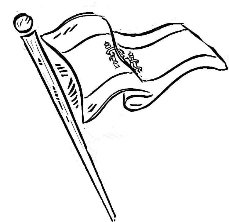 Раскраска Флаг Испании 1