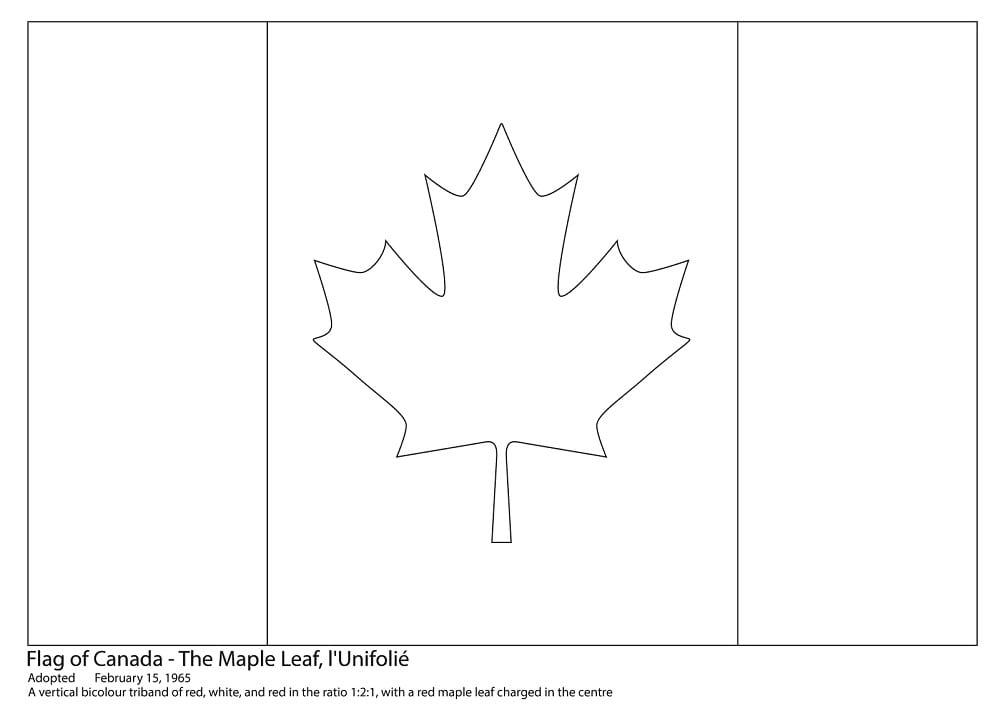 Раскраска Раскраски Канада