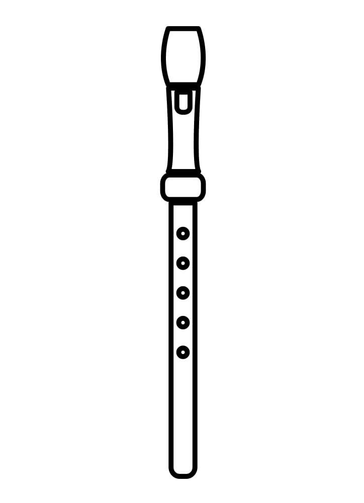 Раскраска Флейта 2