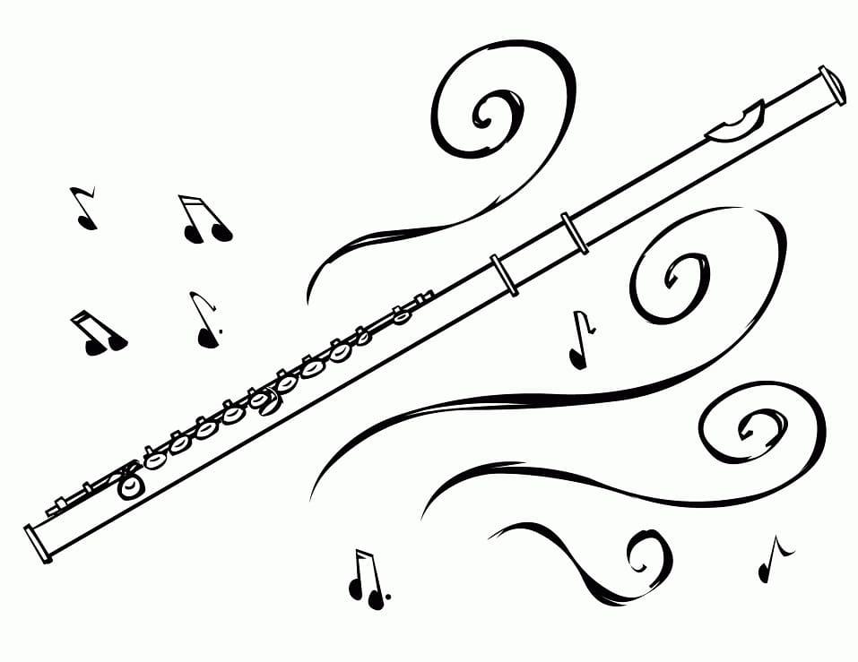 Раскраска Флейта 4
