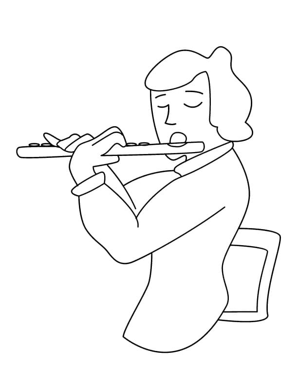 Раскраска Флейтист 1