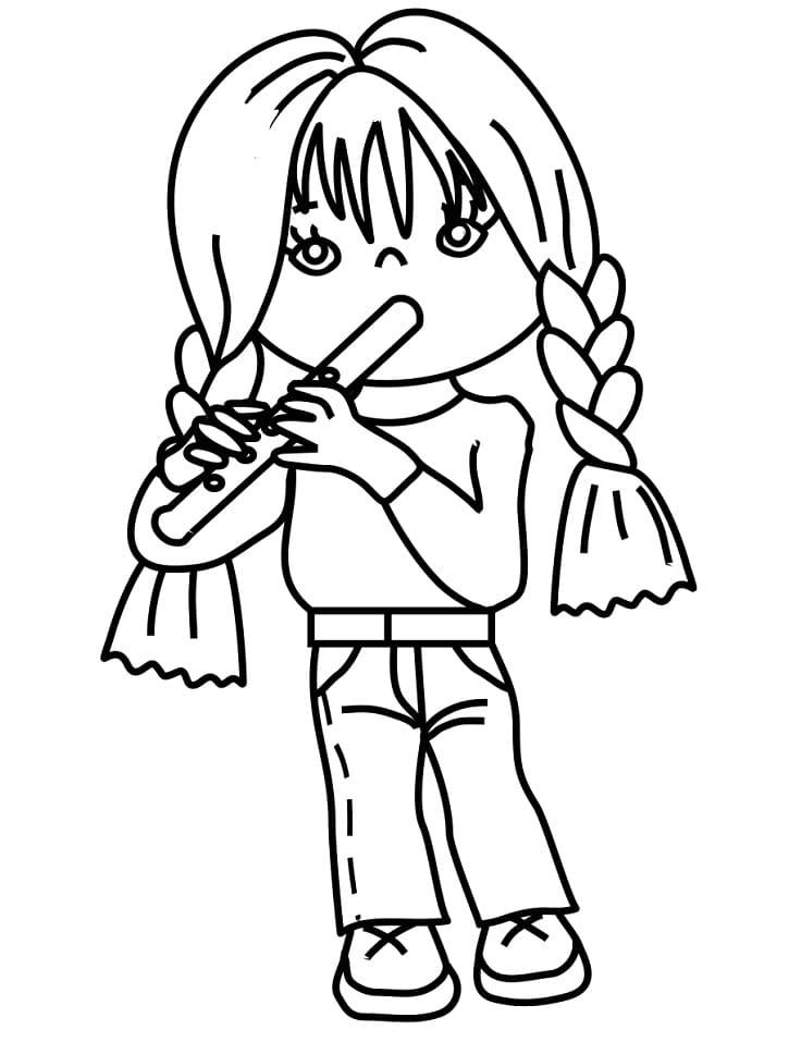 Раскраска Флейтист 3
