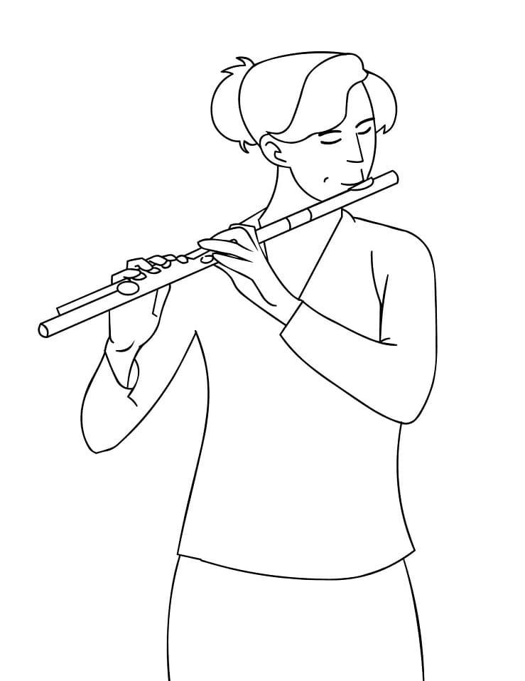Раскраска Флейтист 4