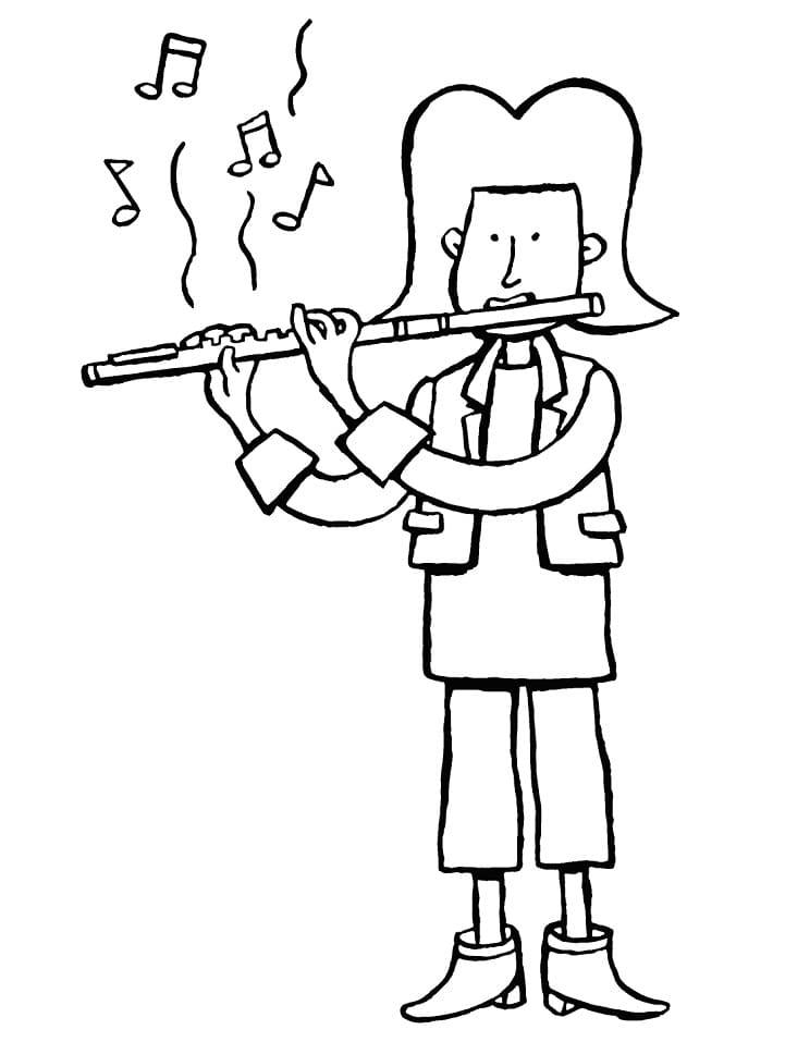 Раскраска Флейтист