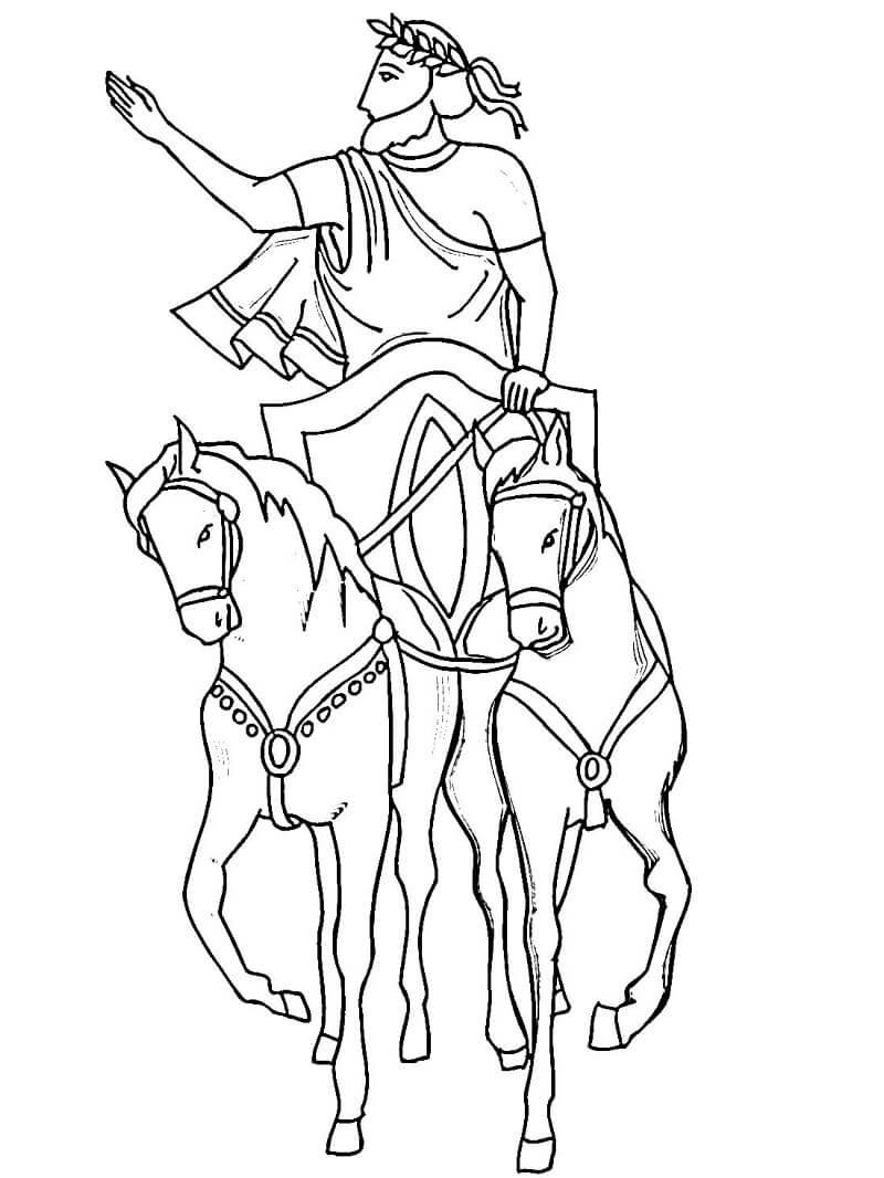 Раскраска Гай Юлий Цезарь 1