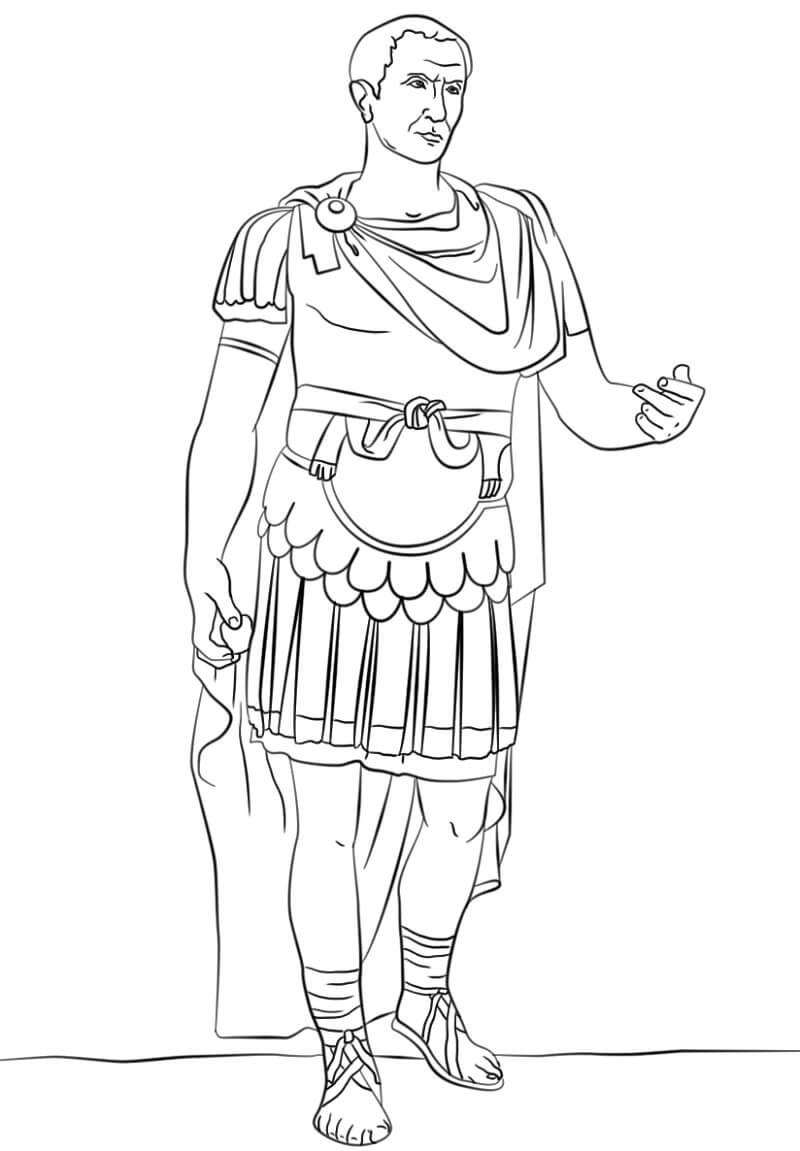 Раскраска Гай Юлий Цезарь