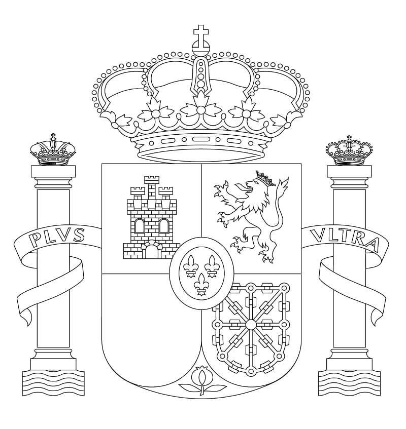 Раскраска Герб Испании