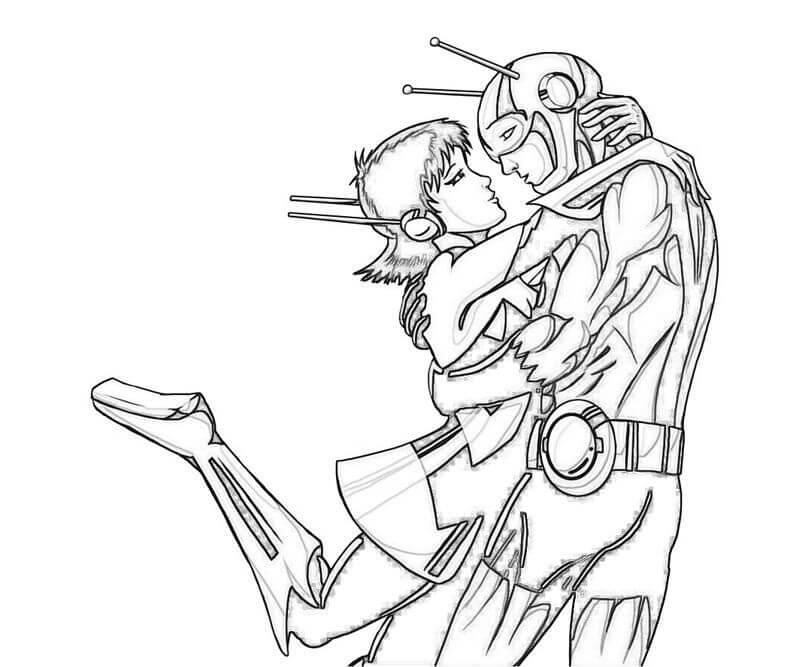 Раскраска герой Человек-муравей 1