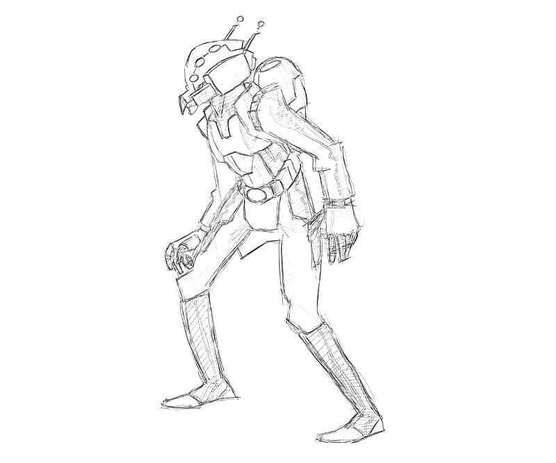 Раскраска герой Человек-муравей 2