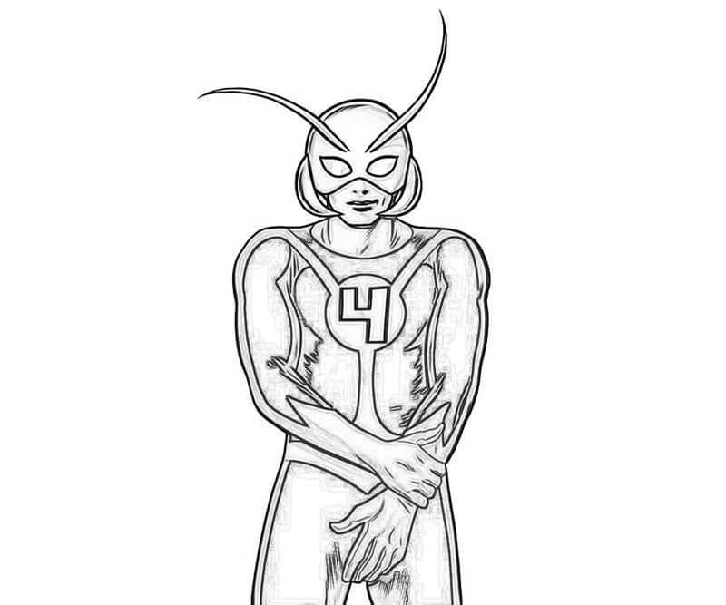 Раскраска герой Человек-муравей 3
