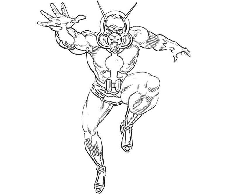 Раскраска герой Человек-муравей 5