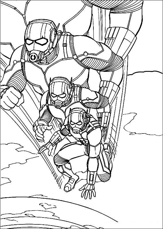 Раскраска герой Человек-муравей 6