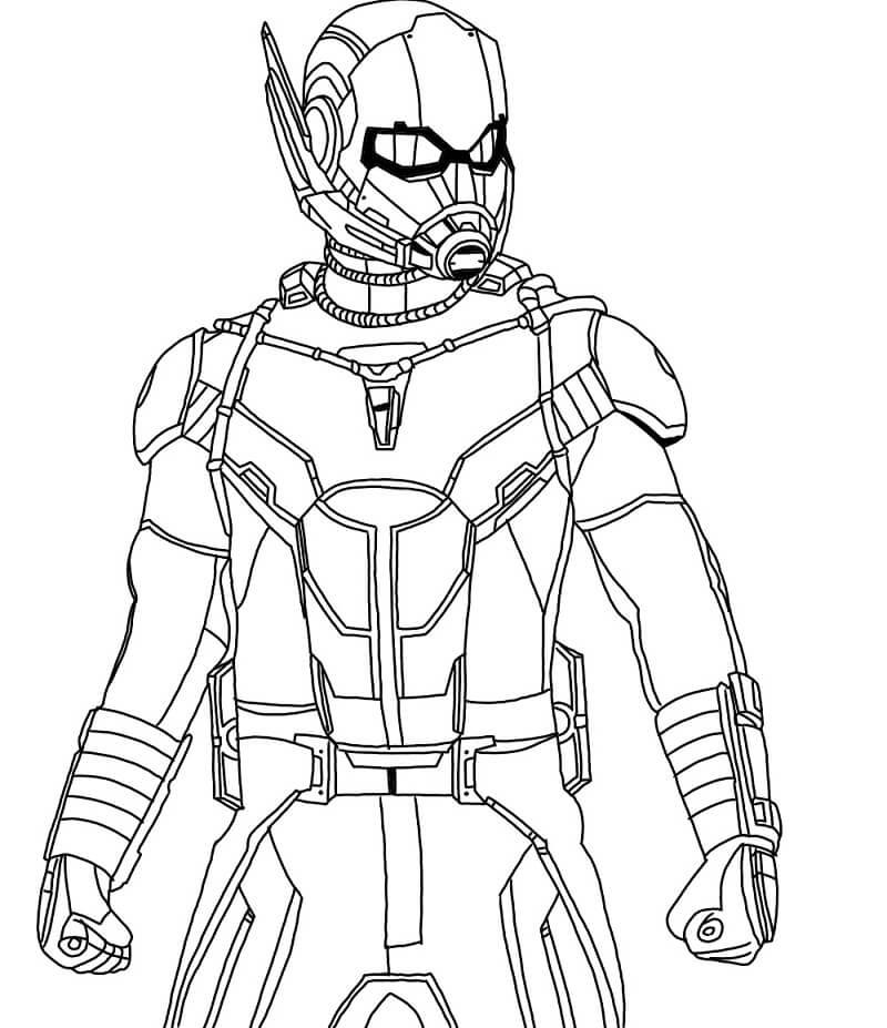 Раскраска герой Человек-муравей 7