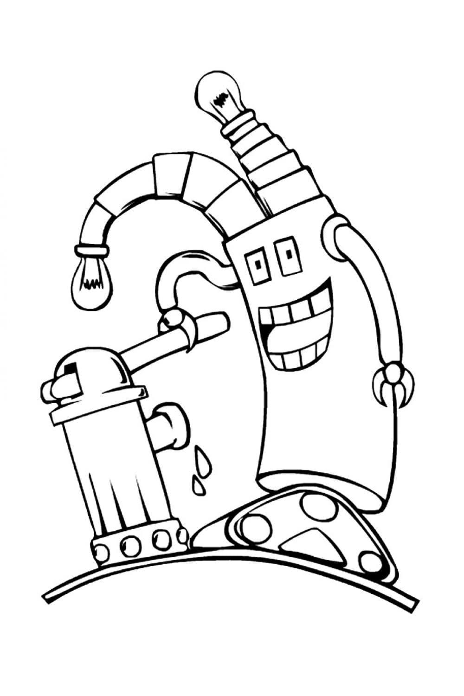 Раскраска Глупышка-робот