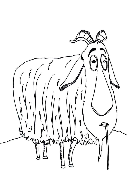 Раскраска Горный козёл из Смолфутов