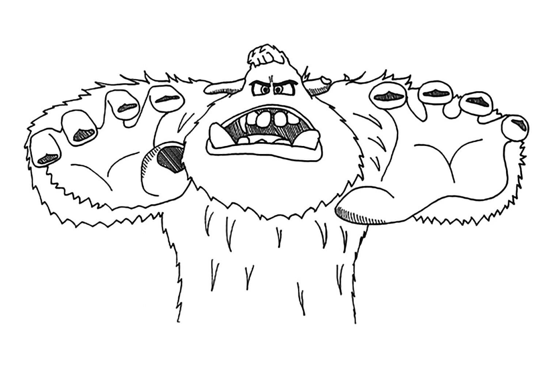 Раскраска Грозный Миго
