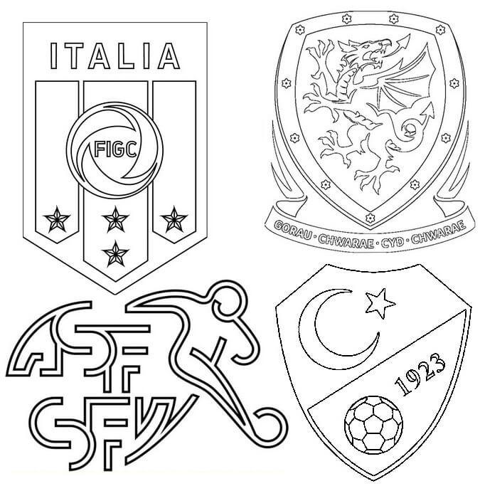 Раскраска Группа А Евро 2021