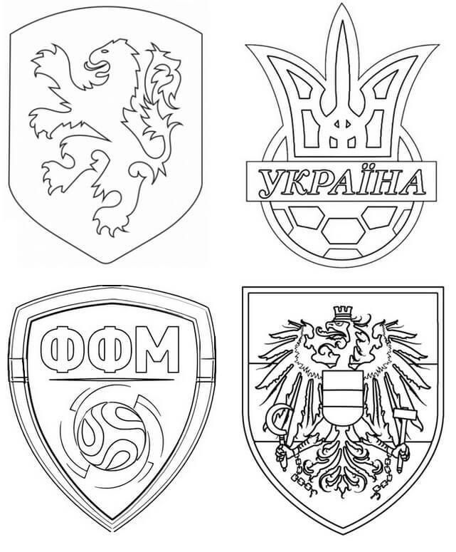 Раскраска Группа C Евро 2021