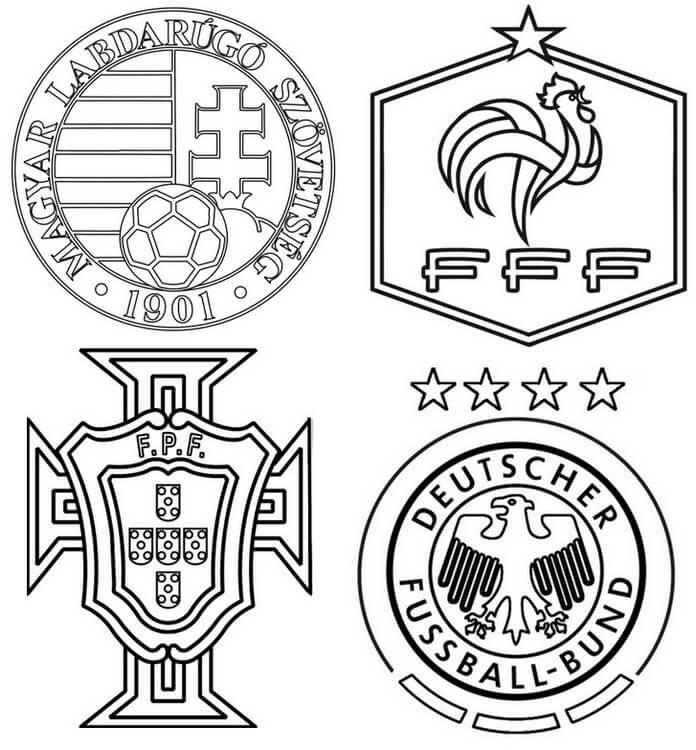 Раскраска Группа F Евро 2021