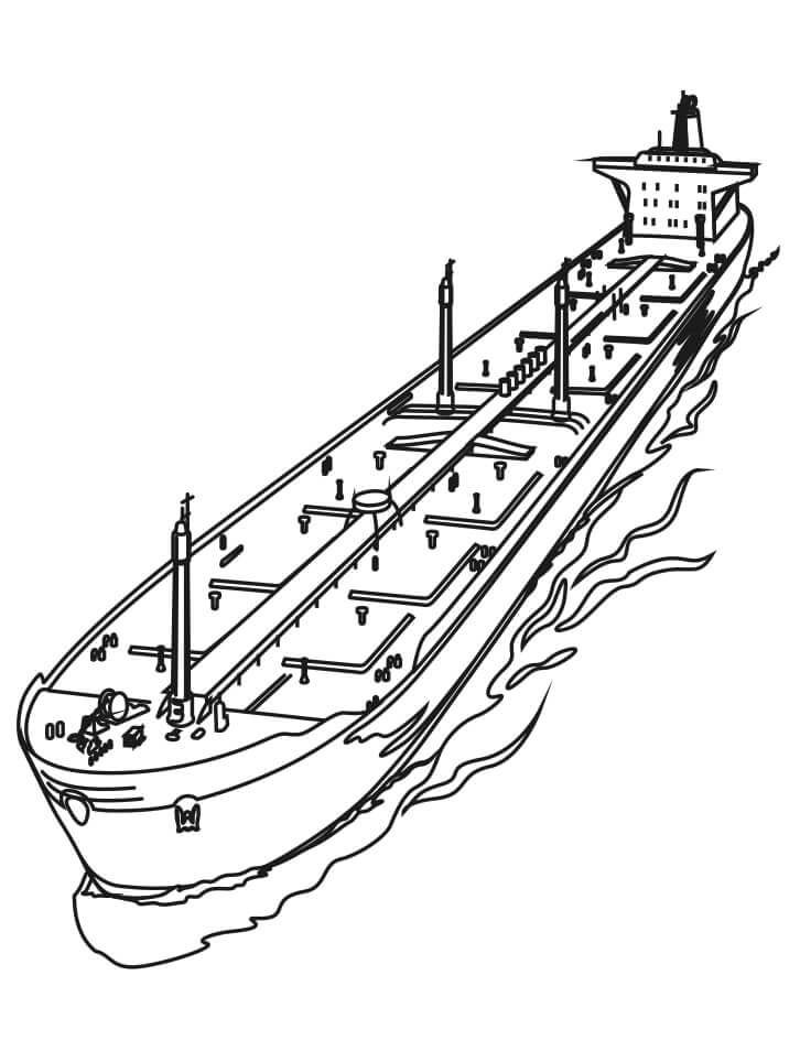 Раскраска грузовое судно 1