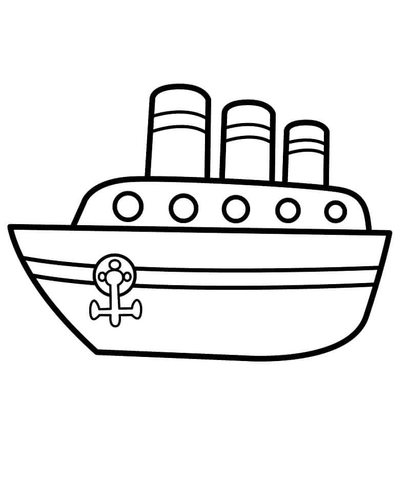 Раскраска грузовое судно 3