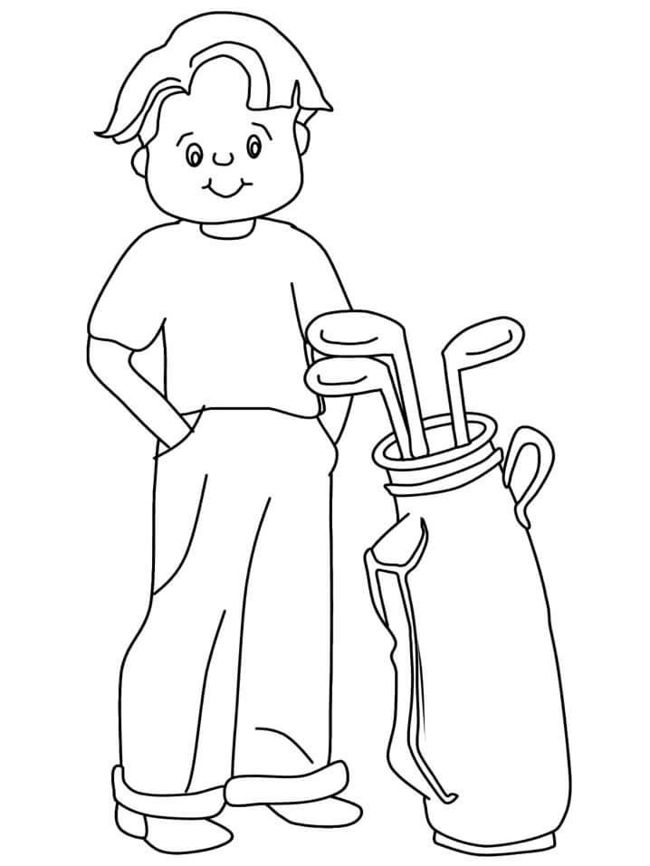 Раскраска игра в гольф 10
