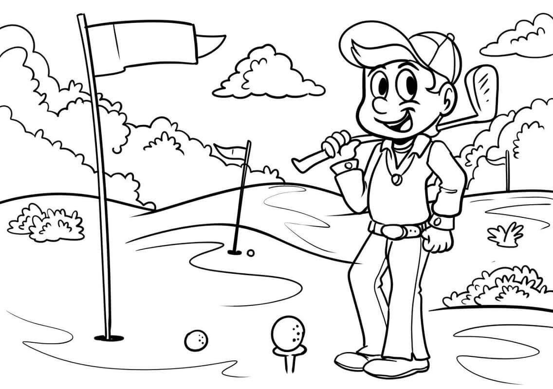 Раскраска игра в гольф 11