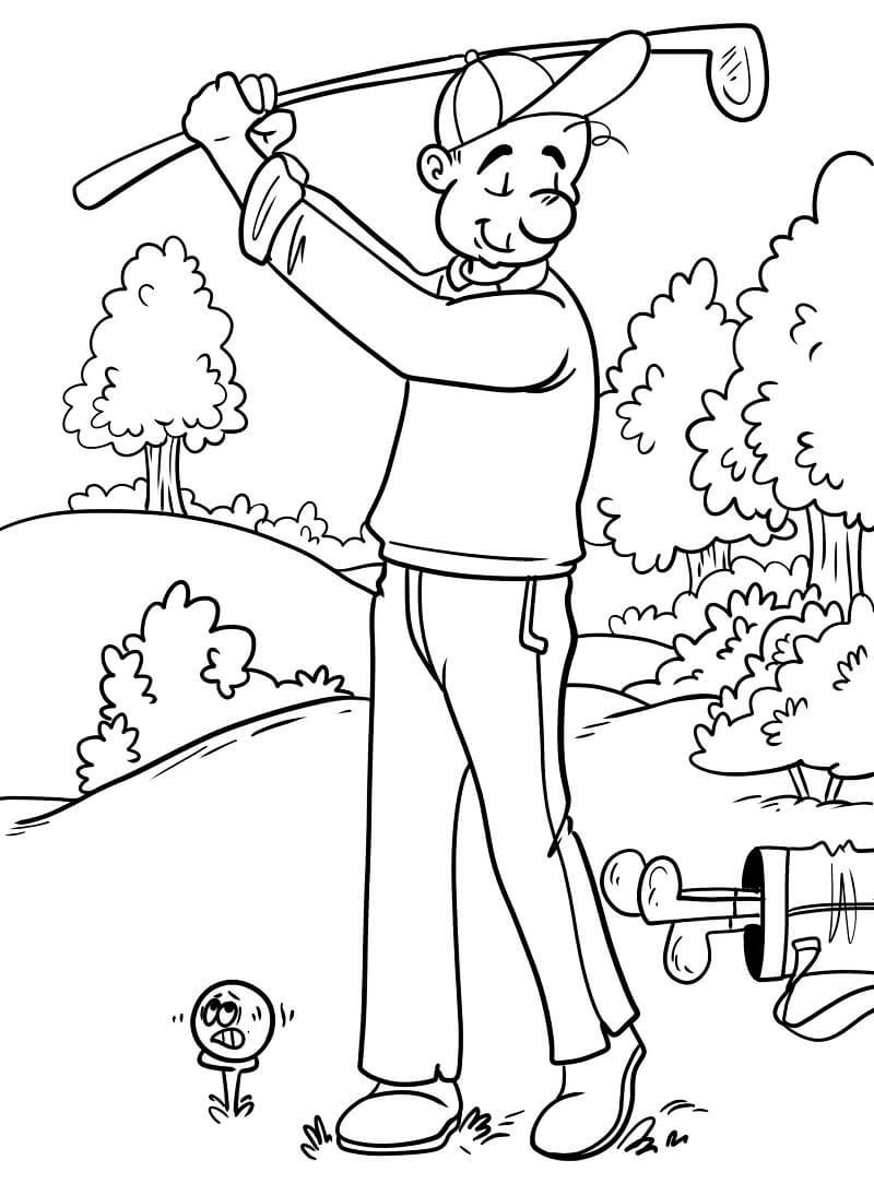 Раскраска игра в гольф 4