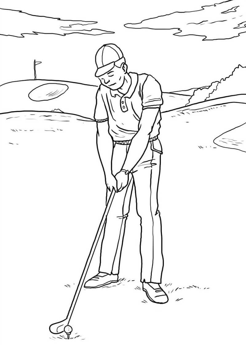 Раскраска игра в гольф 5