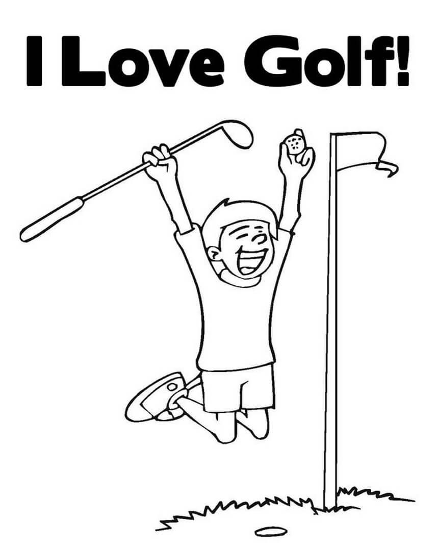 Раскраска игра в гольф 6