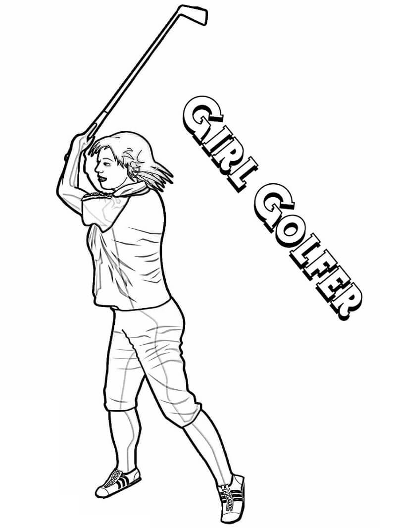 Раскраска игра в гольф 8