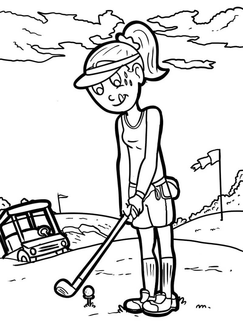 Раскраска игра в гольф 9