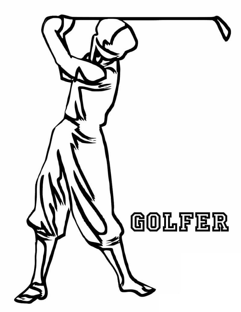 Раскраска игра в гольф