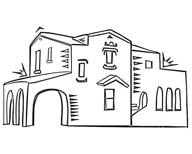 Раскраска Испанская архитектура