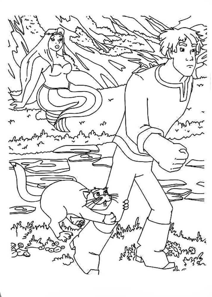 Раскраска Иван Царевич и Серый волк 10