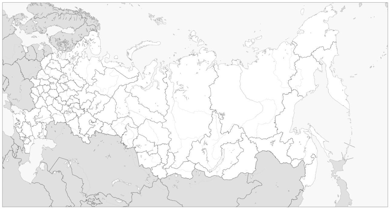 Раскраска Карта России