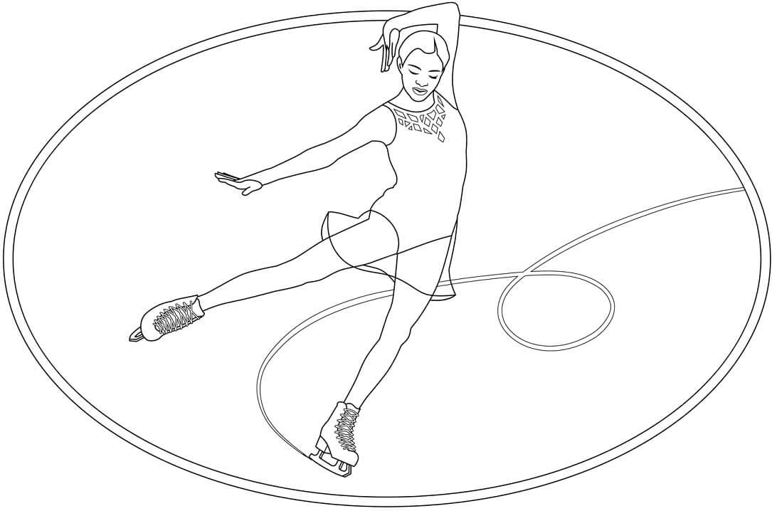 Раскраска Катание на коньках