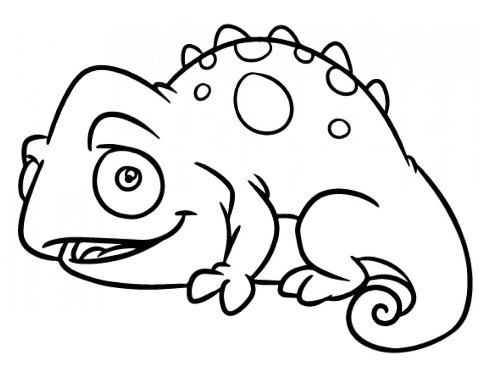 Раскраска Хамелеон 1