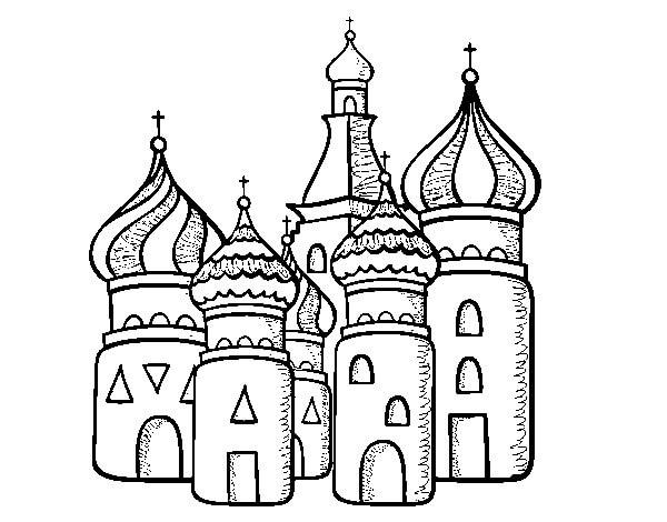 Раскраска Храм Василия Блаженного 5