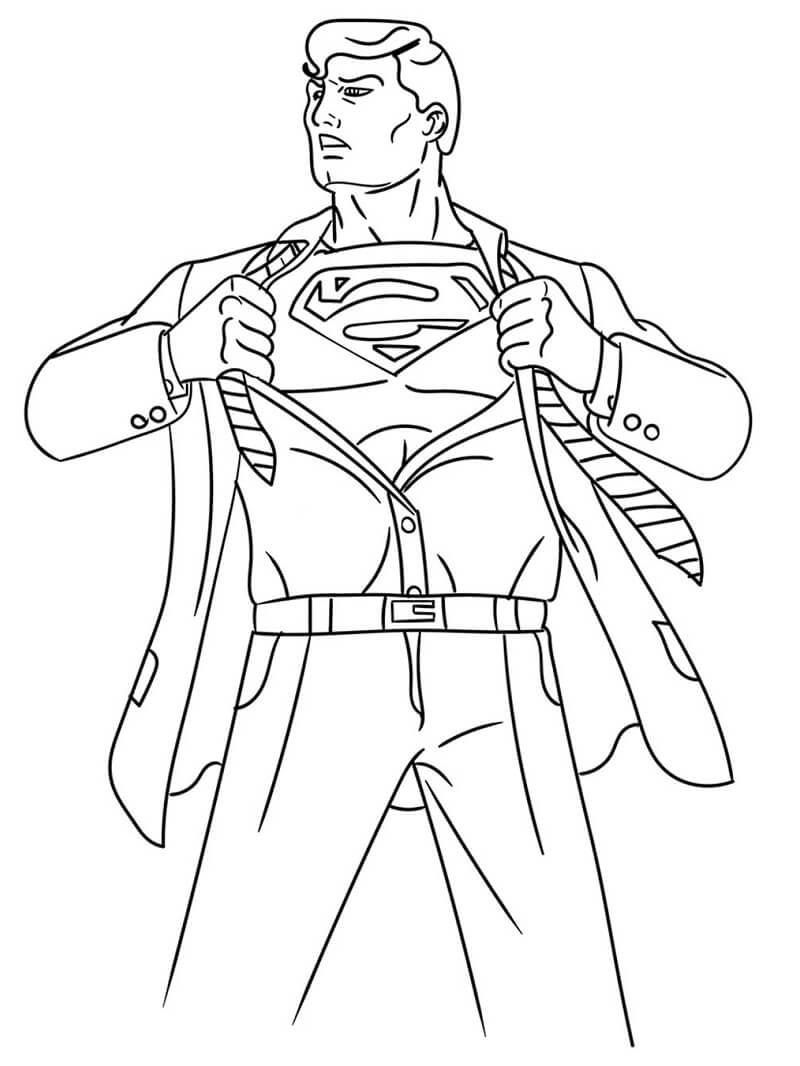 Раскраска классный супермен 4