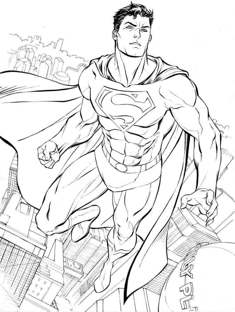 Раскраска классный супермен 5