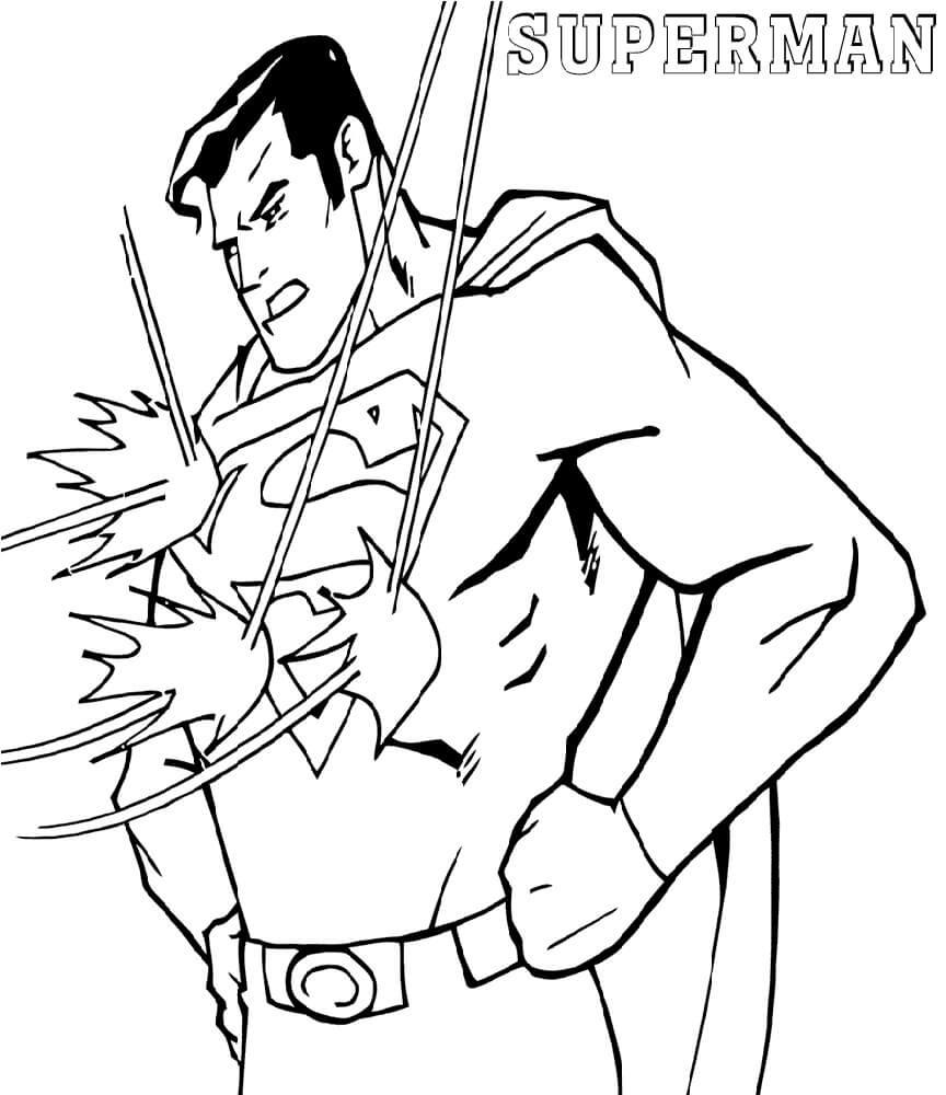 Раскраска классный супермен 6
