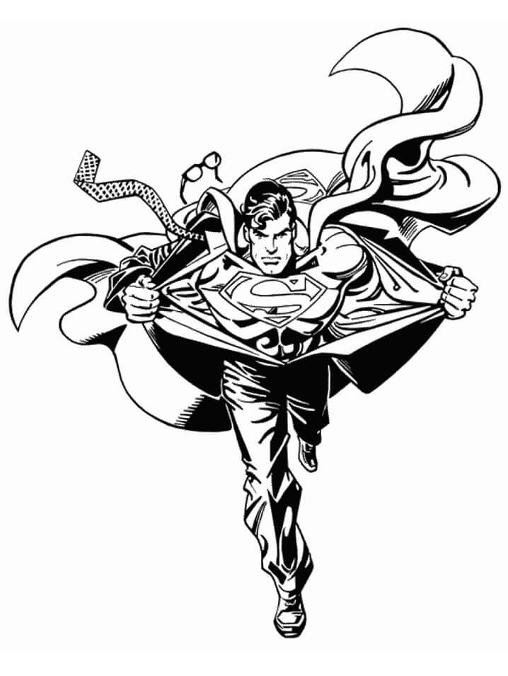 Раскраска классный супермен