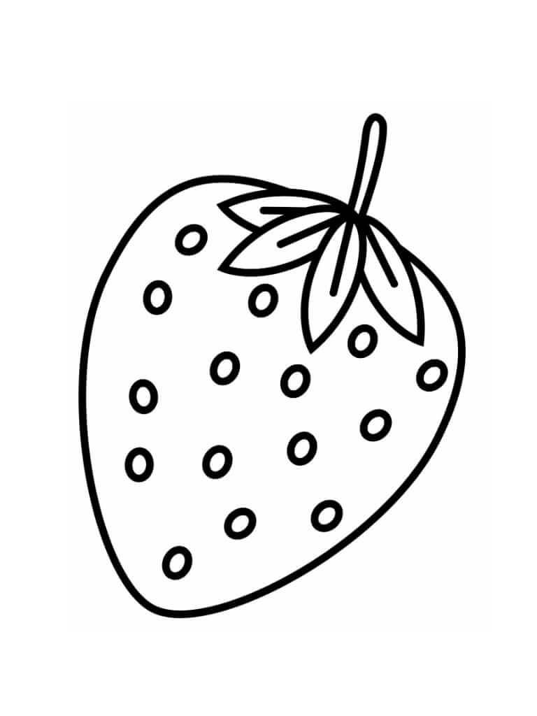 Раскраска клубника 1