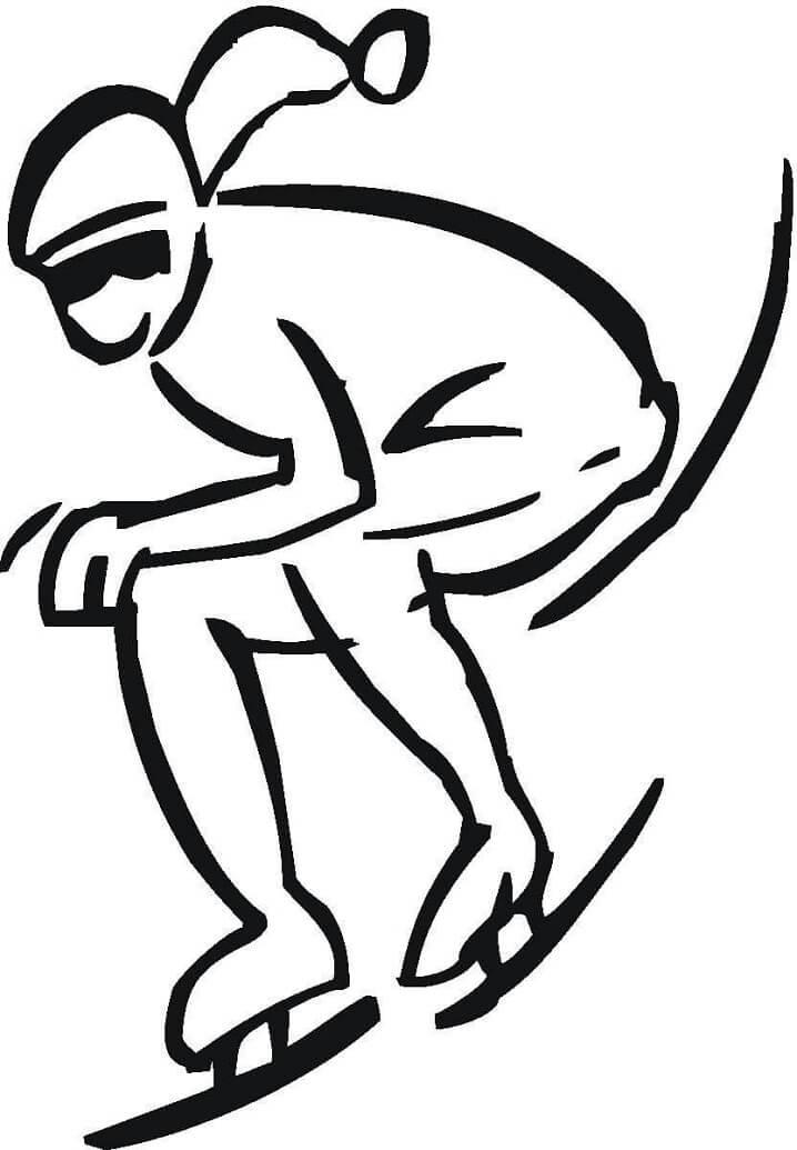 Раскраска Конькобежный спорт 2