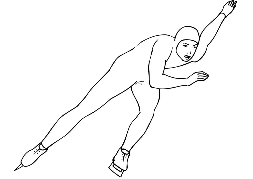 Раскраска Конькобежный спорт