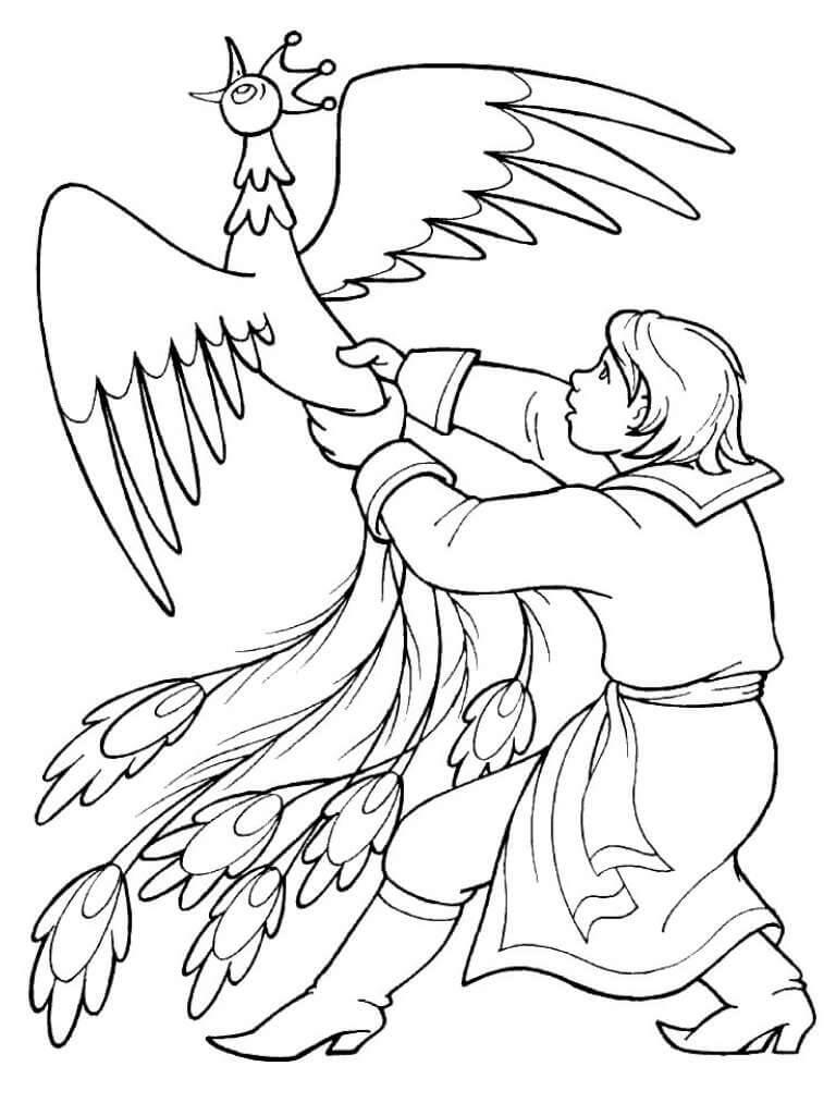 Раскраска Конёк-Горбунок 10