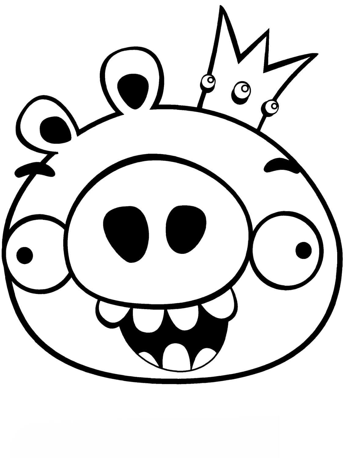 Раскраска король свинья