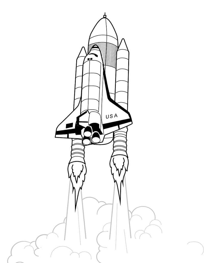 Раскраска Космический корабль 1